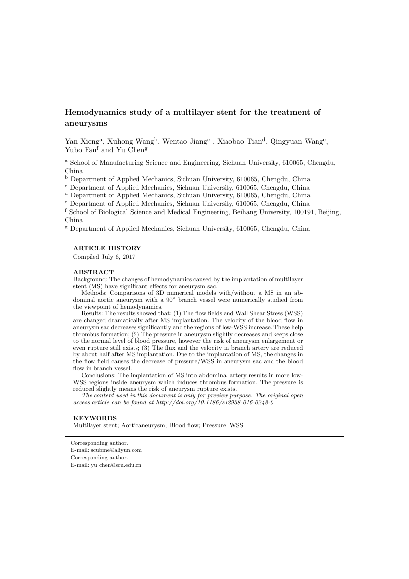 Example of Canadian Society of Forensic Science Journal format