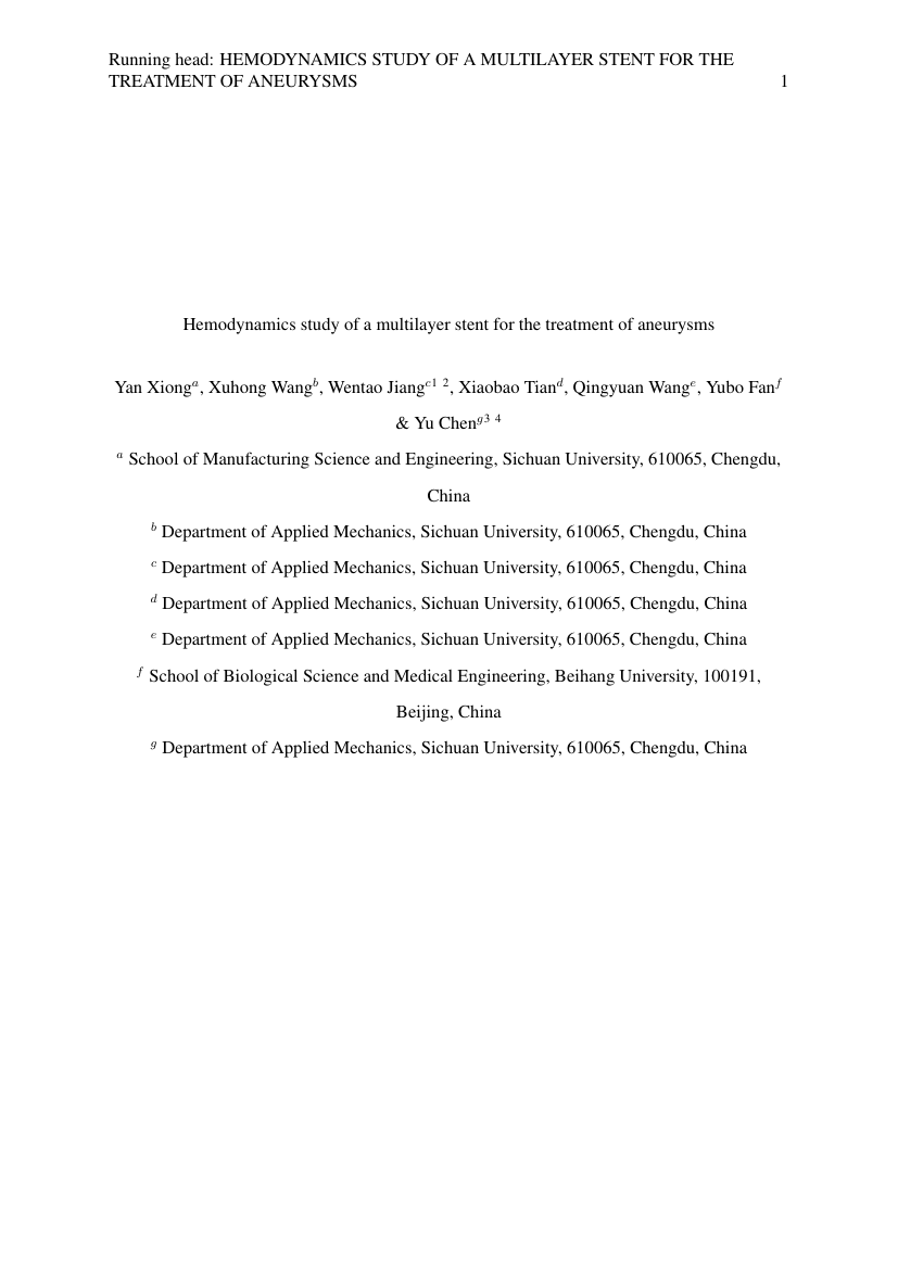 Example of Population Health Sciences (Assignment/Report) format