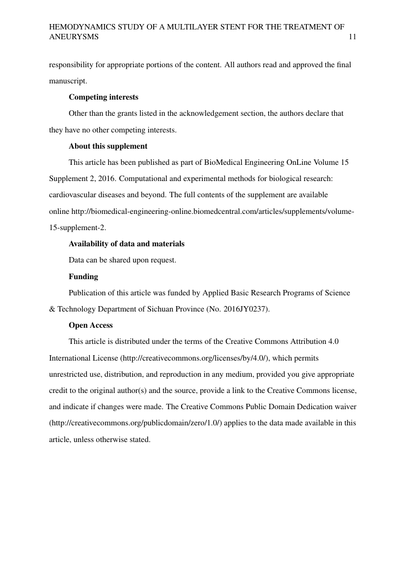 Example of Environmental Health Sciences (Assignment/Report) format