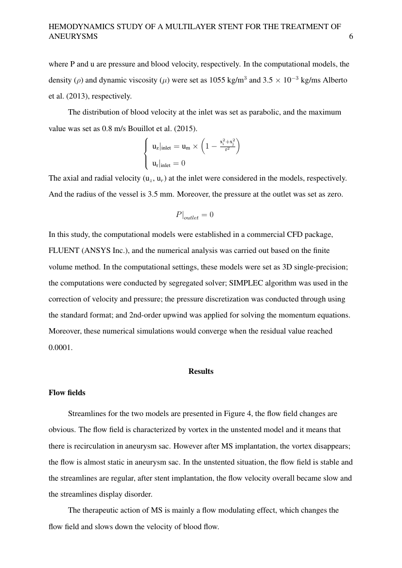 Example of Aerospace Engineering (MC75) (Assignment/Report) format