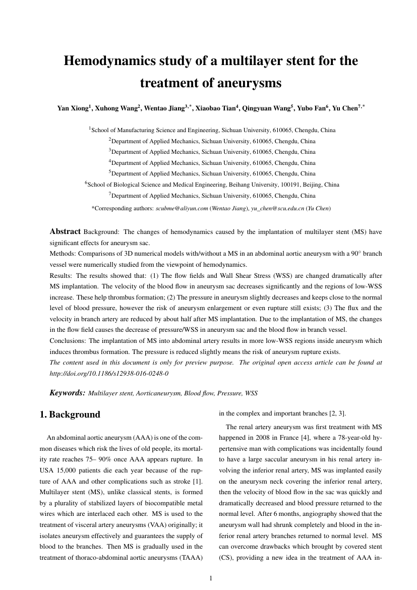 Example of American Journal of Mathematical Analysis format