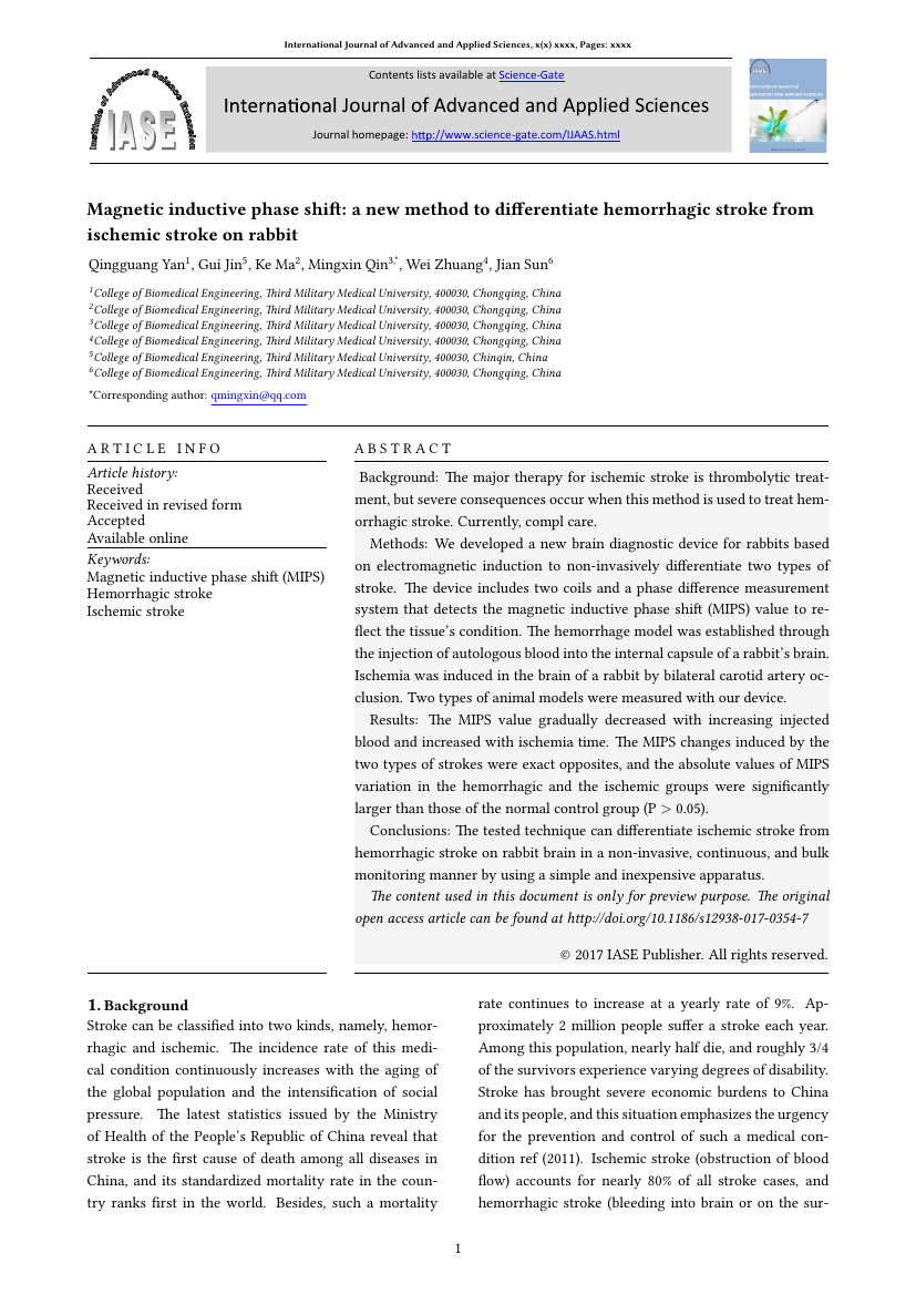 Example of International Journal of Advanced and Applied Sciences (IJAAS) format