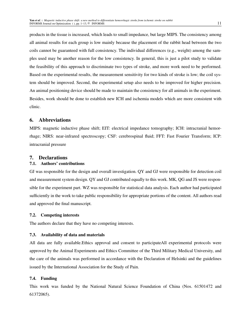 Example of INFORMS Journal on Optimization format