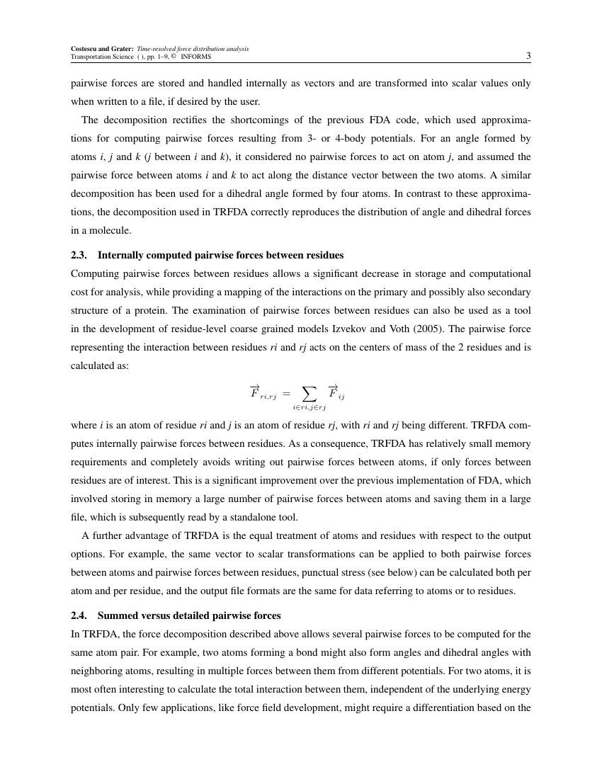 Example of Transportation Science format