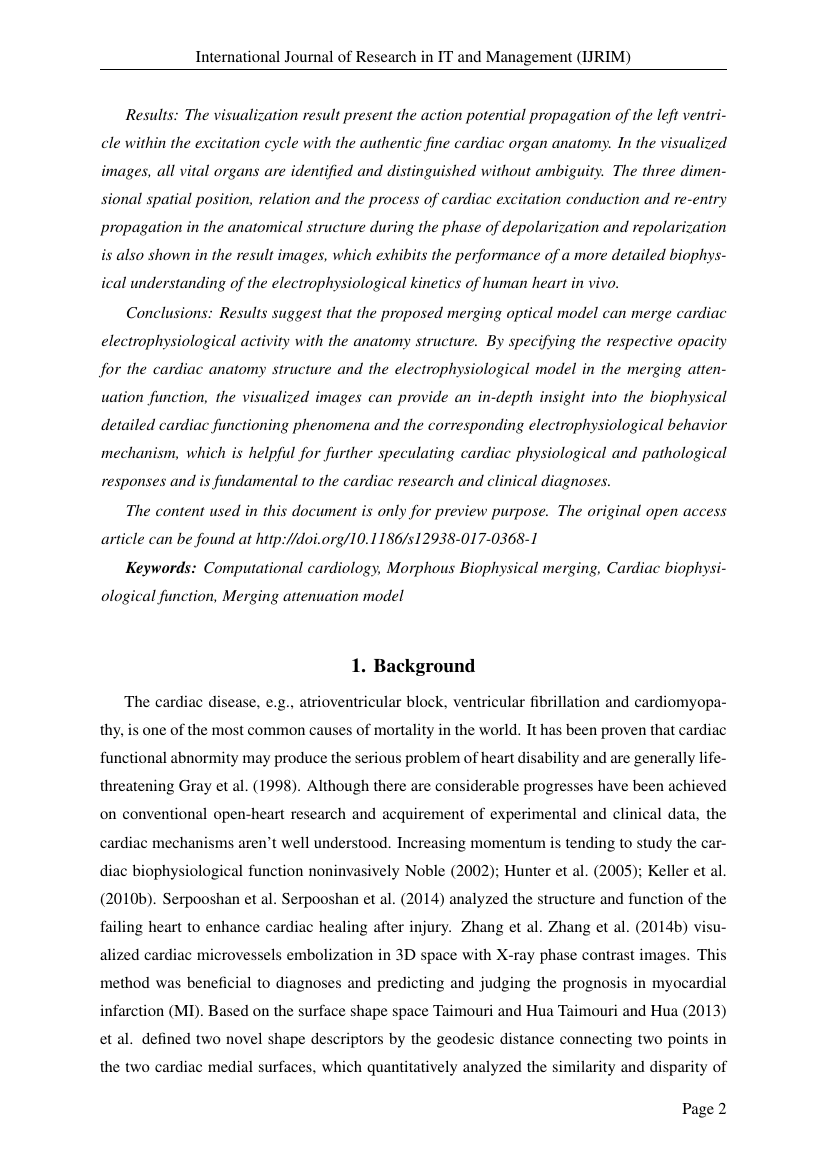 Example of International Journal of Research in IT and Management (IJRIM) format