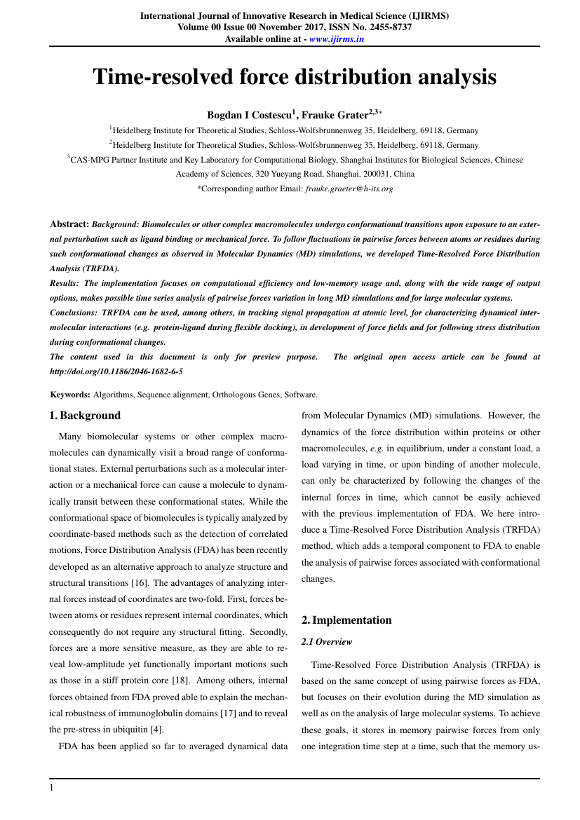 Example of International Journal of Innovative Research in Medical Science (IJIRMS) format