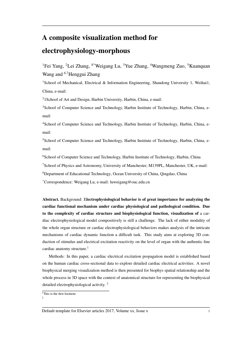 Example of North American Journal of Medicine and Science format