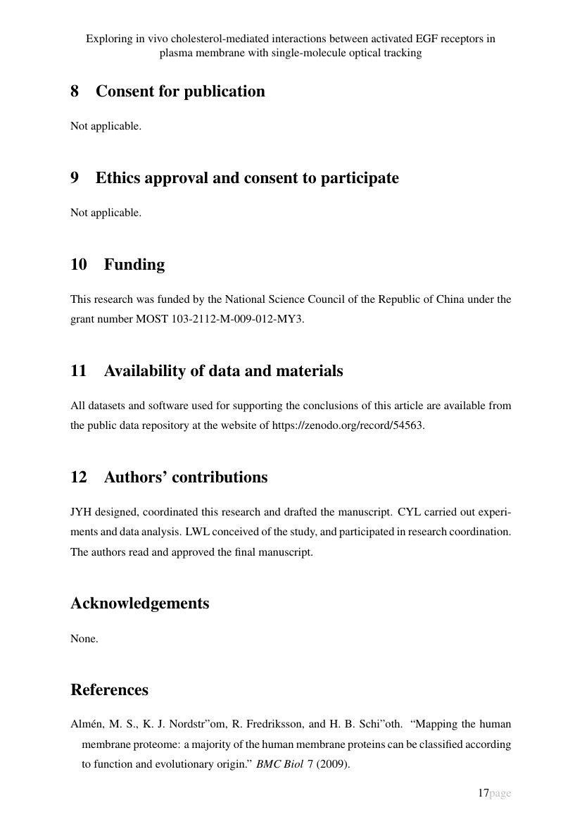 Example of An International Multidisciplinary Journal format