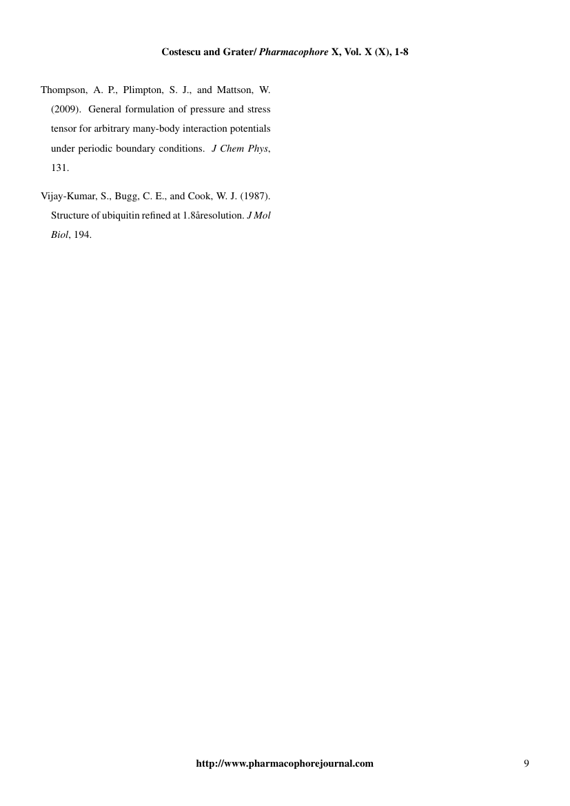 Example of Pharmacophore An International Research Journal format