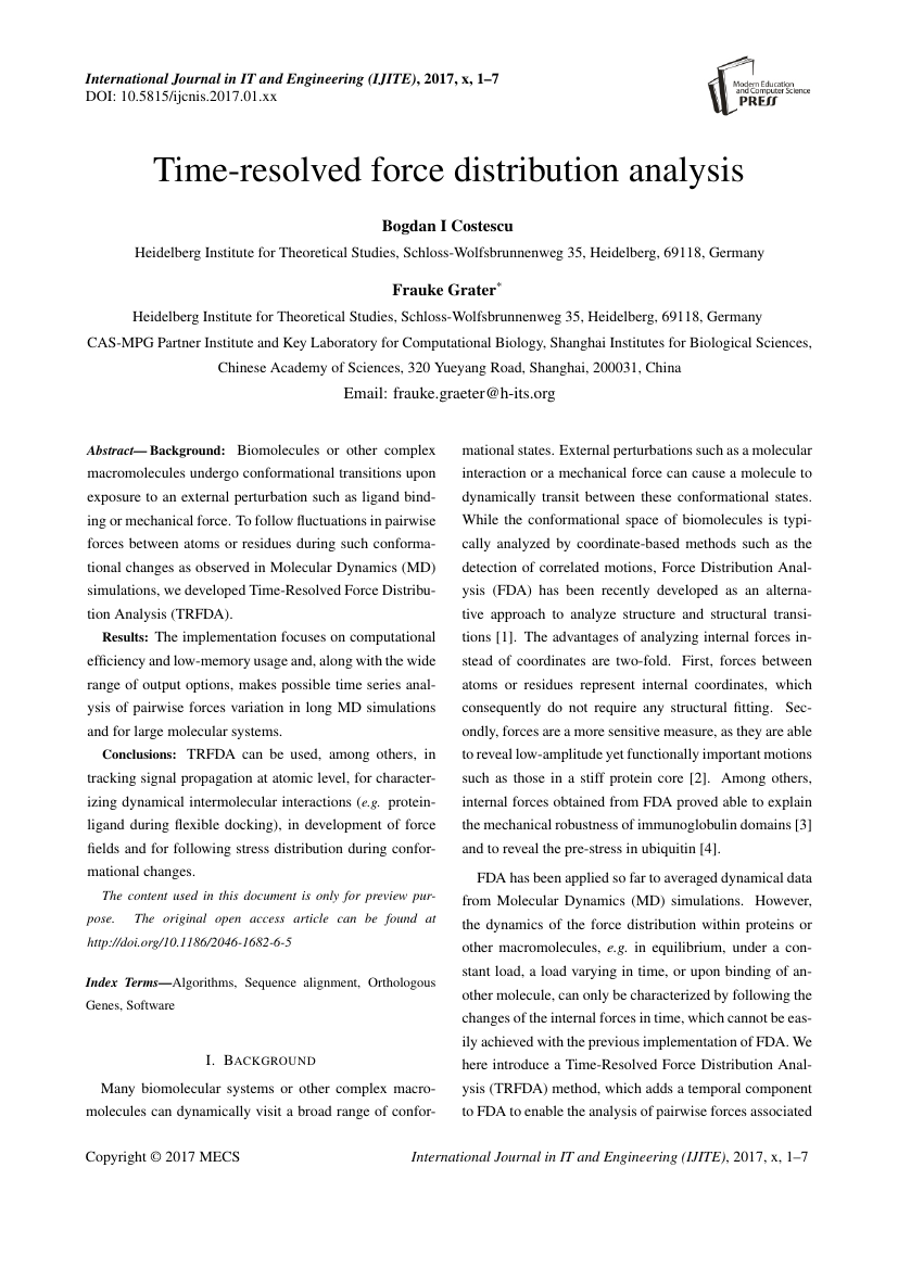 Example of International Journal of Modern Education and Computer Science (IJMECS) format