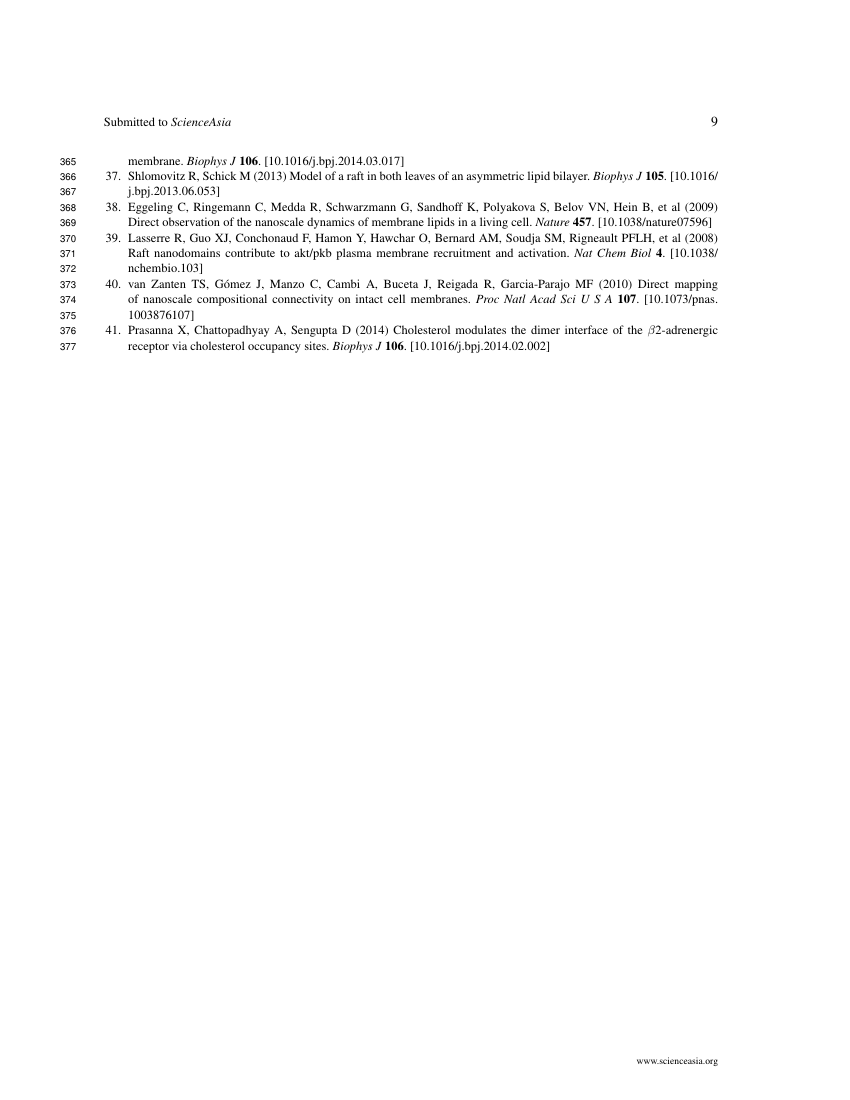 Example of ScienceAsia format