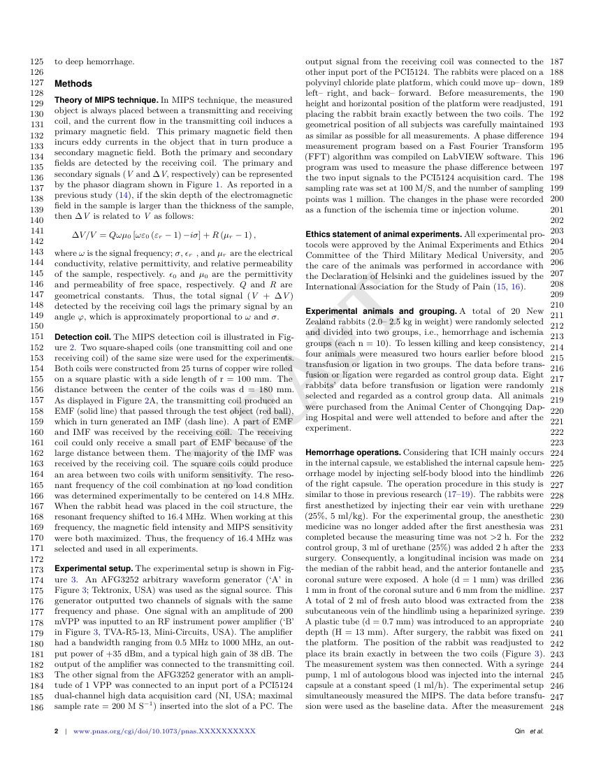 Example of Proceedings of the National Academy of Sciences of the United States of America (PNAS) format