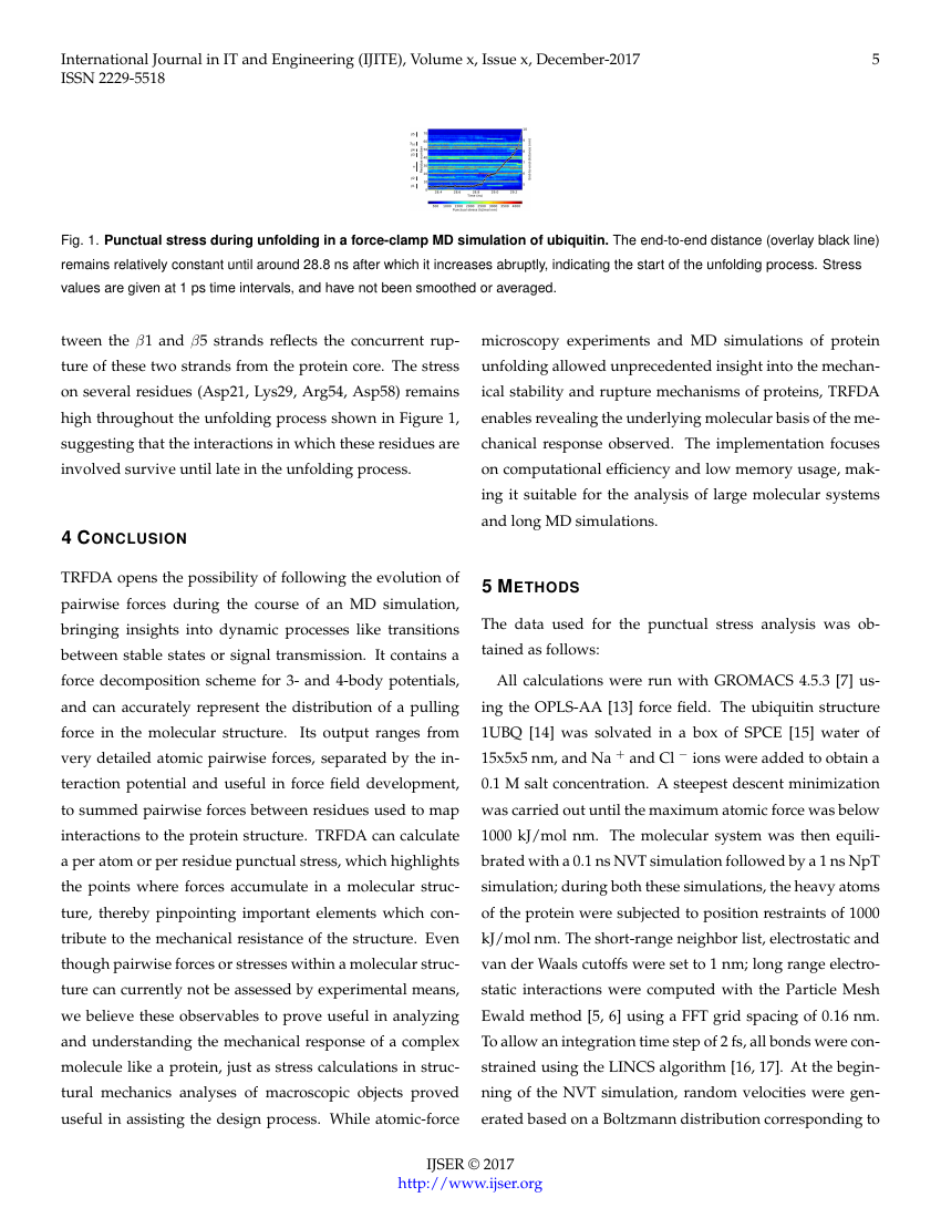 Example of International Journal of Scientific & Engineering Research format