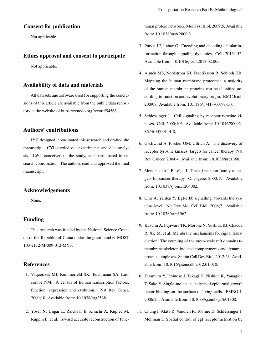 Example of Journal of Environmental Research format