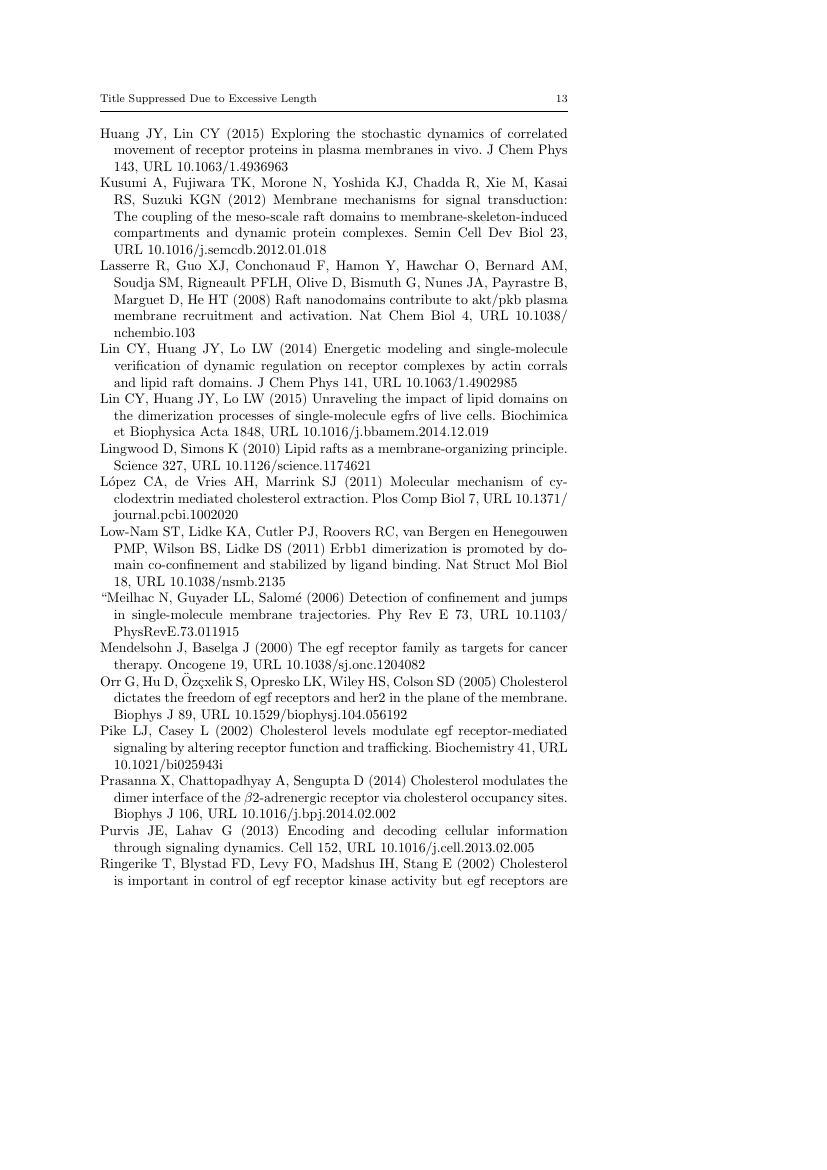 Example of Journal of Ornithology format