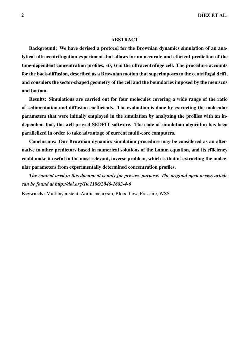Example of Journal of Alternative and Complementary Medicine format
