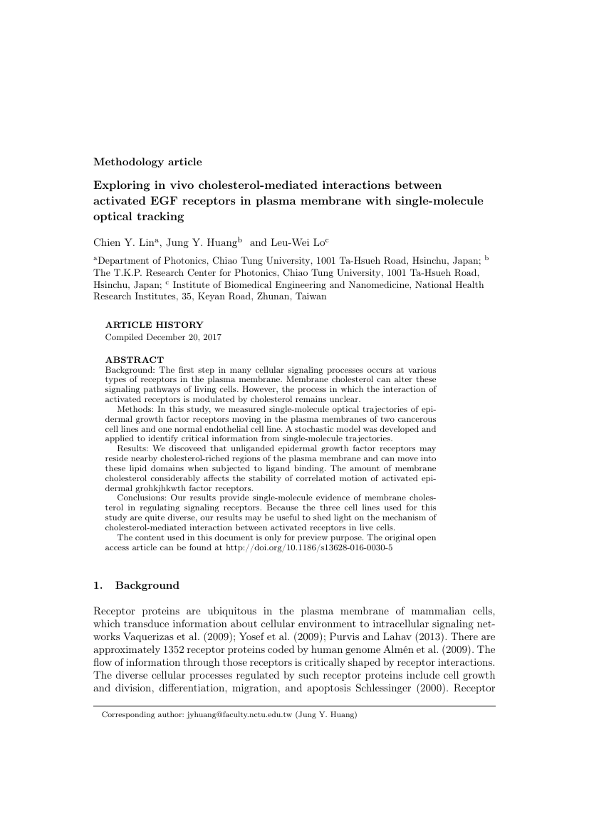 Example of The Journal of Mathematical Sociology format