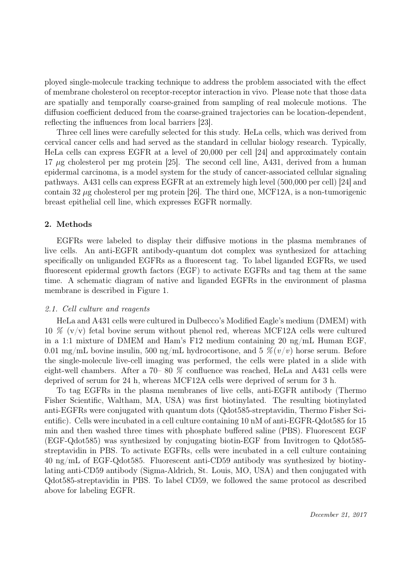 Example of Journal of Memory and Language format