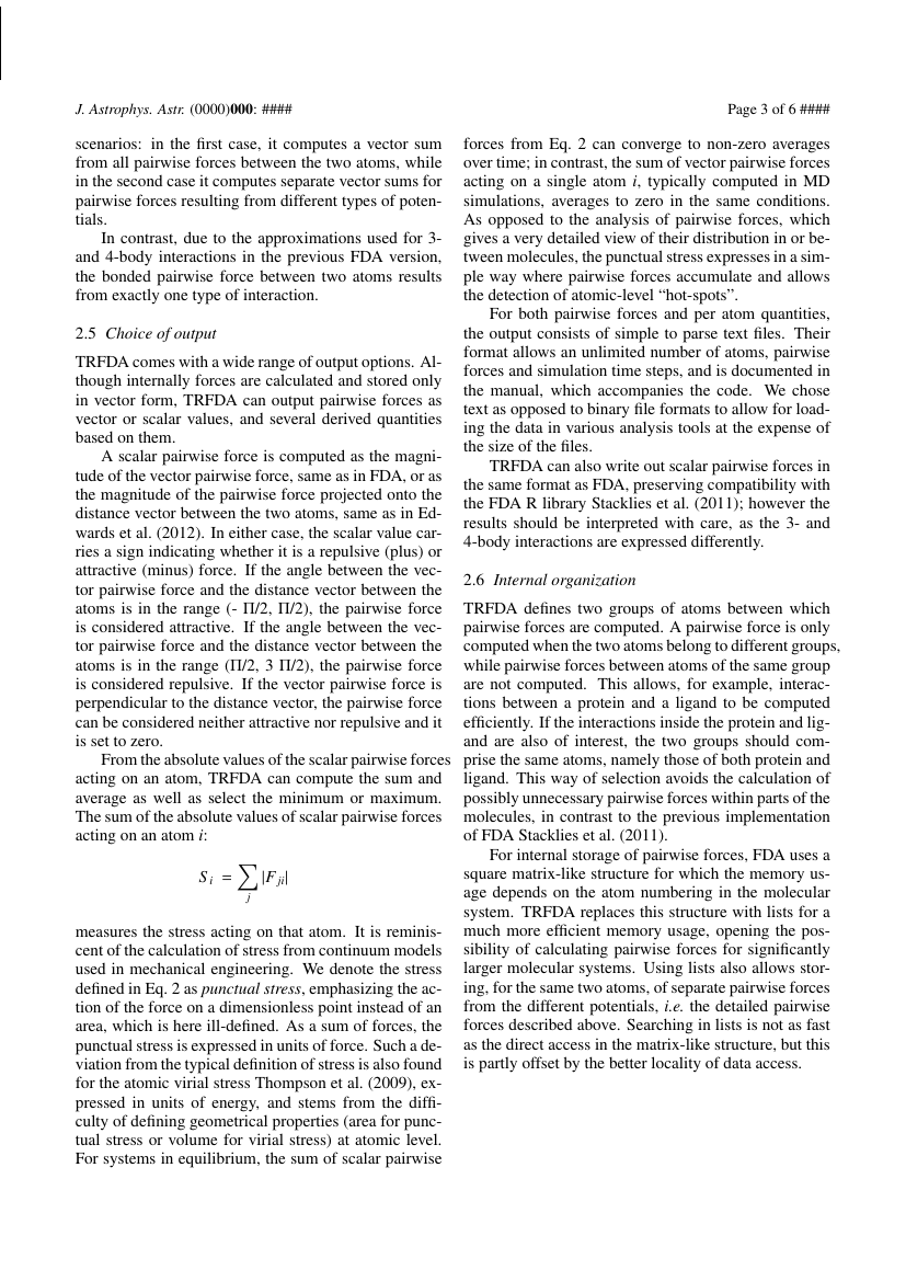 Example of Journal of Astrophysics and Astronomy format