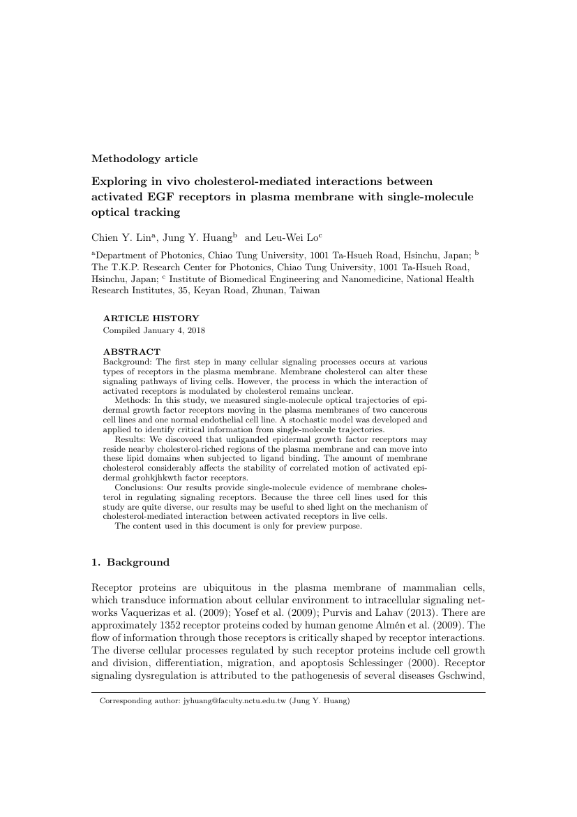 Example of International Journal of Science Education format