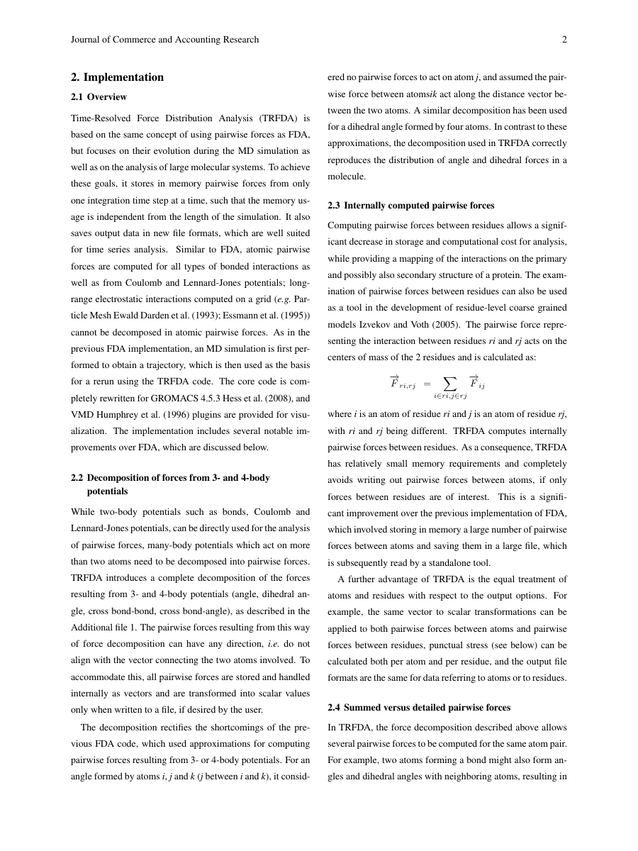 Example of Journal of Commerce and Accounting Research format