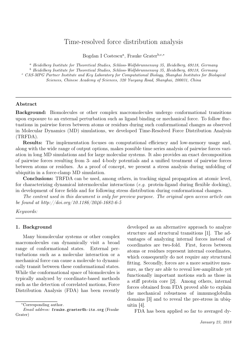 Elsevier - Journal of Biomedical Informatics Template