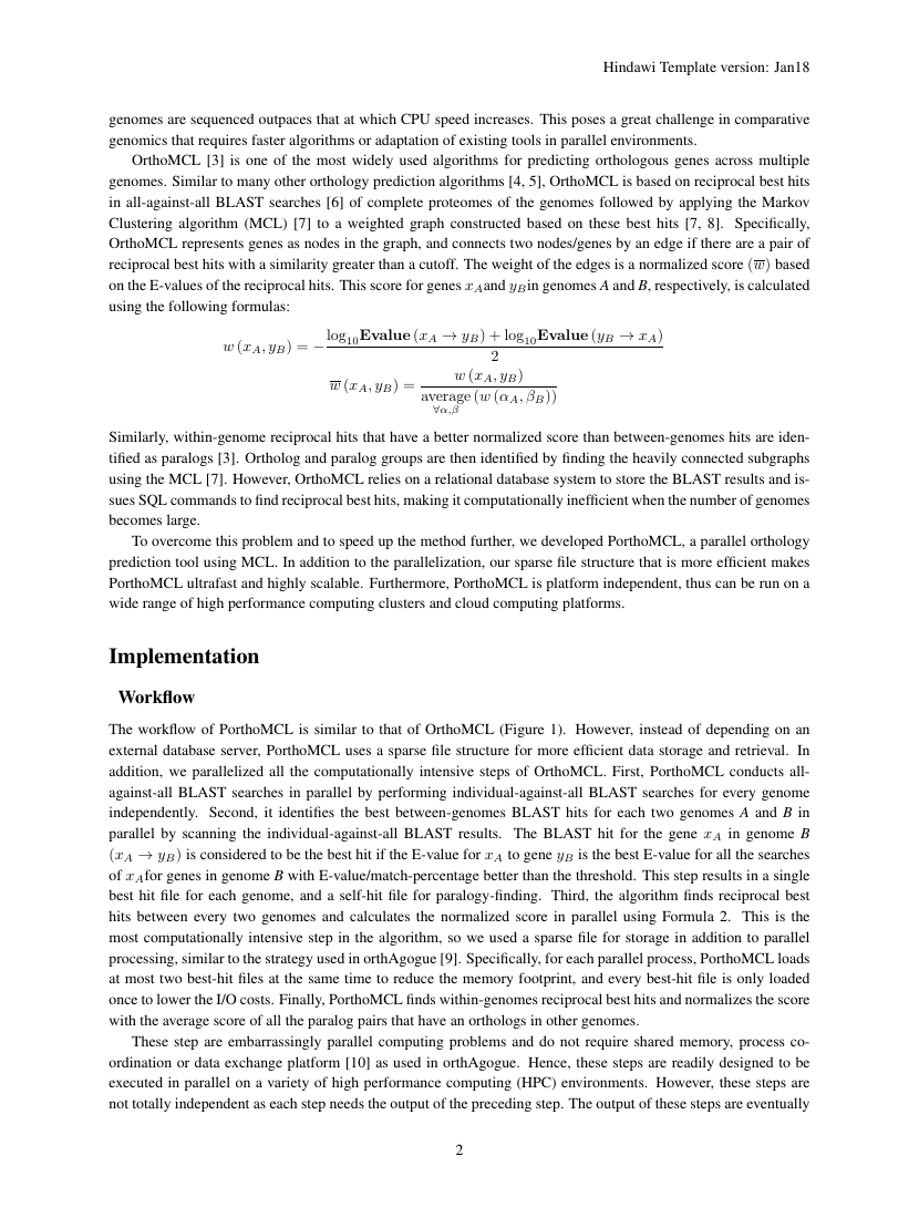 Example of Physics Research International format