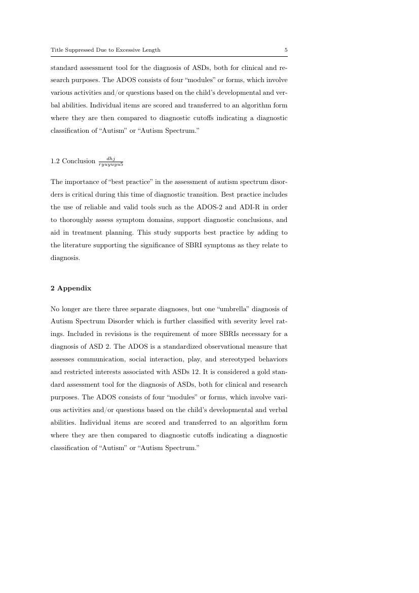 Example of Community Mental Health Journal format