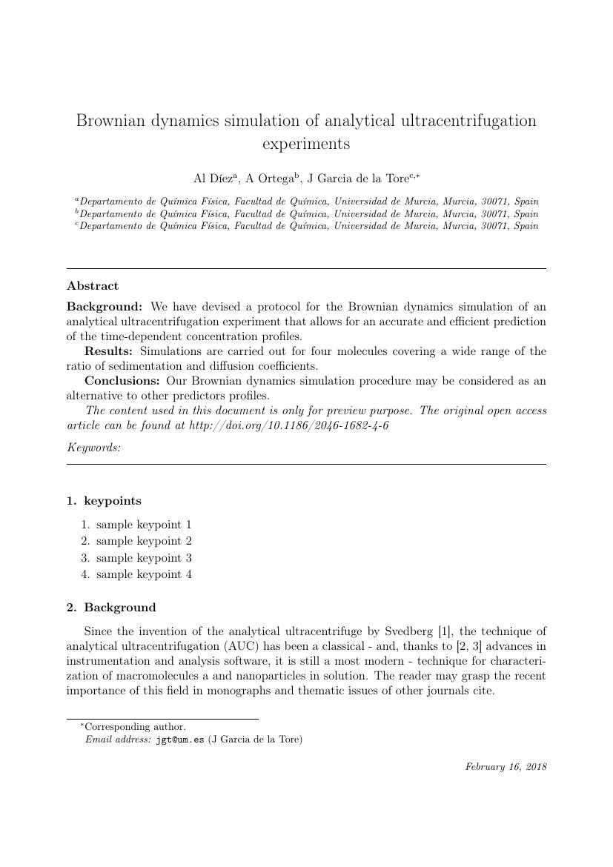 Elsevier - Procedia Engineering Template