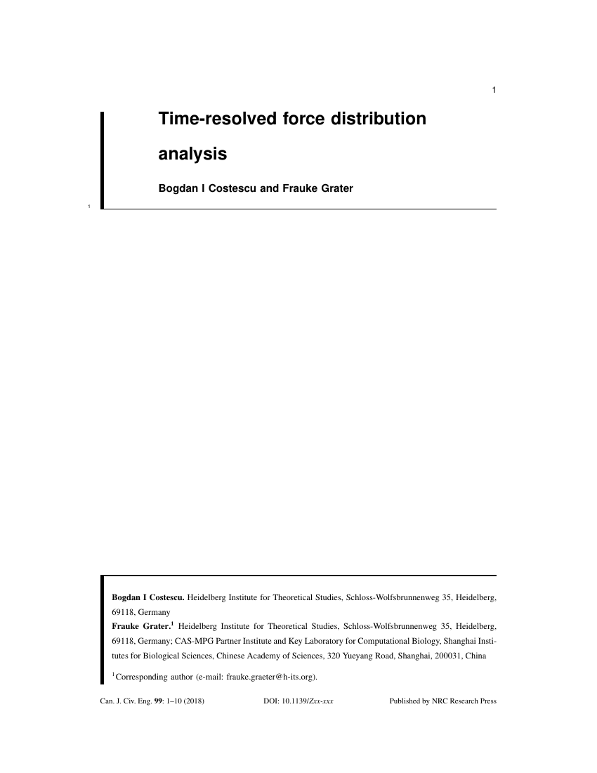 Example of Canadian Journal of Civil Engineering format