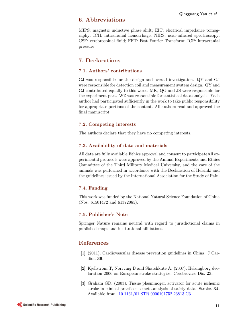 Example of Open Journal of Yangtze Oil and Gas format
