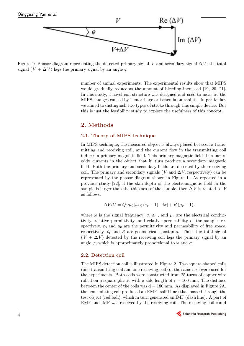 Example of Journal of Electromagnetic Analysis and Applications format