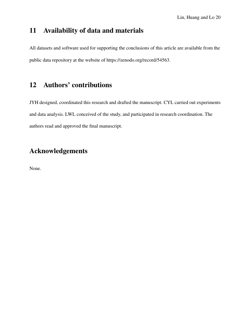 Example of The Journal of American Culture format