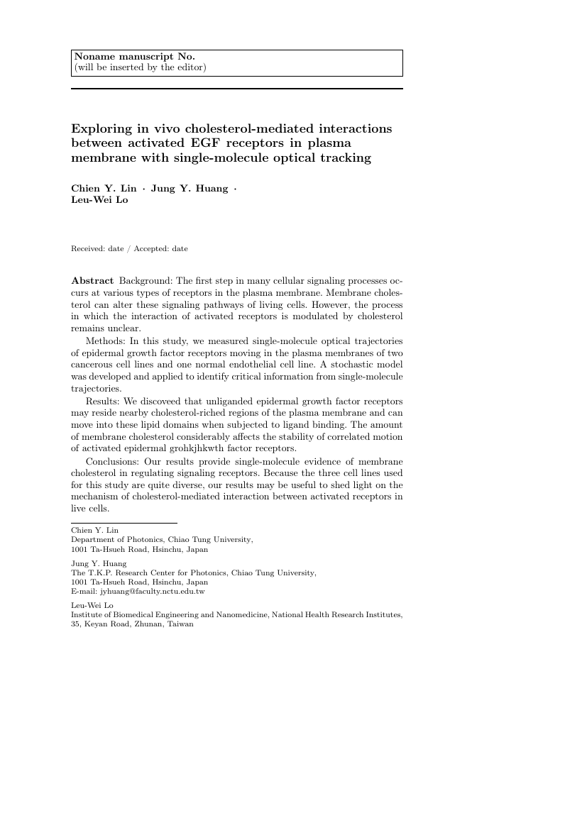 Example of Korean Journal of Chemical Engineering format