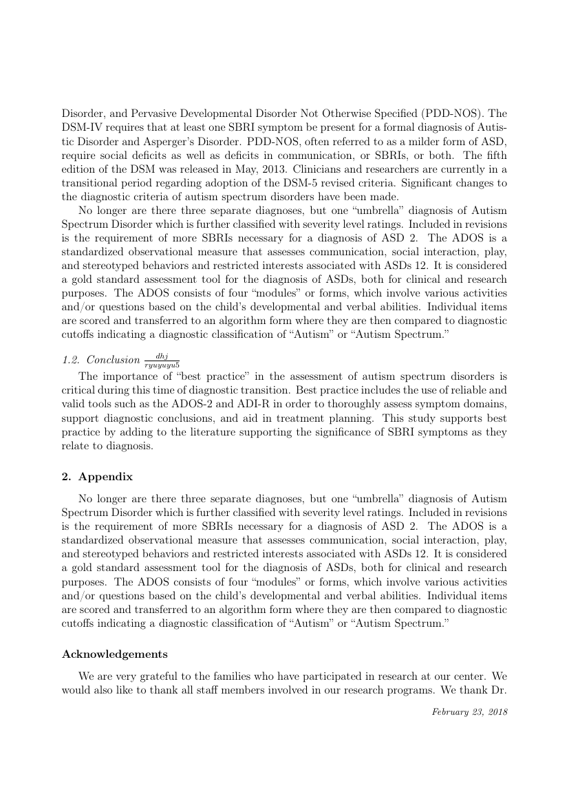 Example of Journal of Systems and Software format