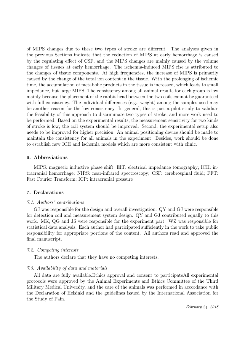 Example of Journal of Financial Economics format