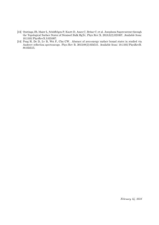 Example of IRBM format