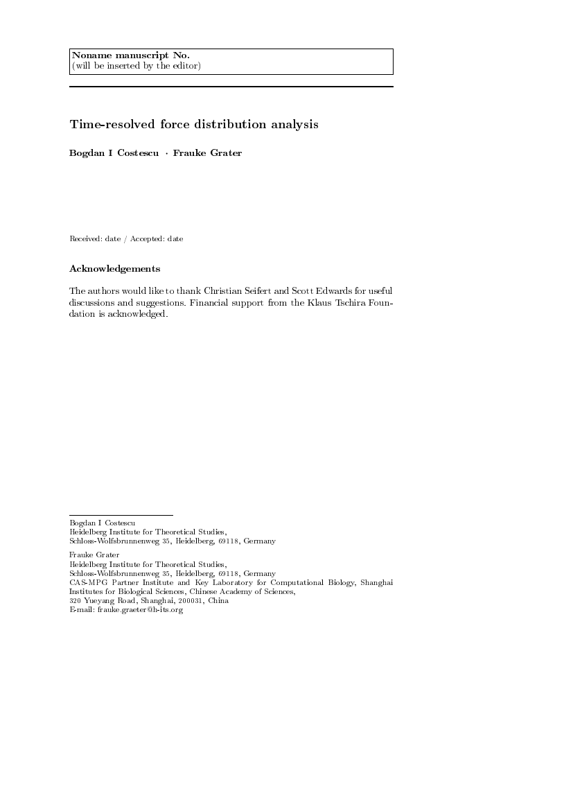 Springer Journal Of Theoretical And Applied Physics Template