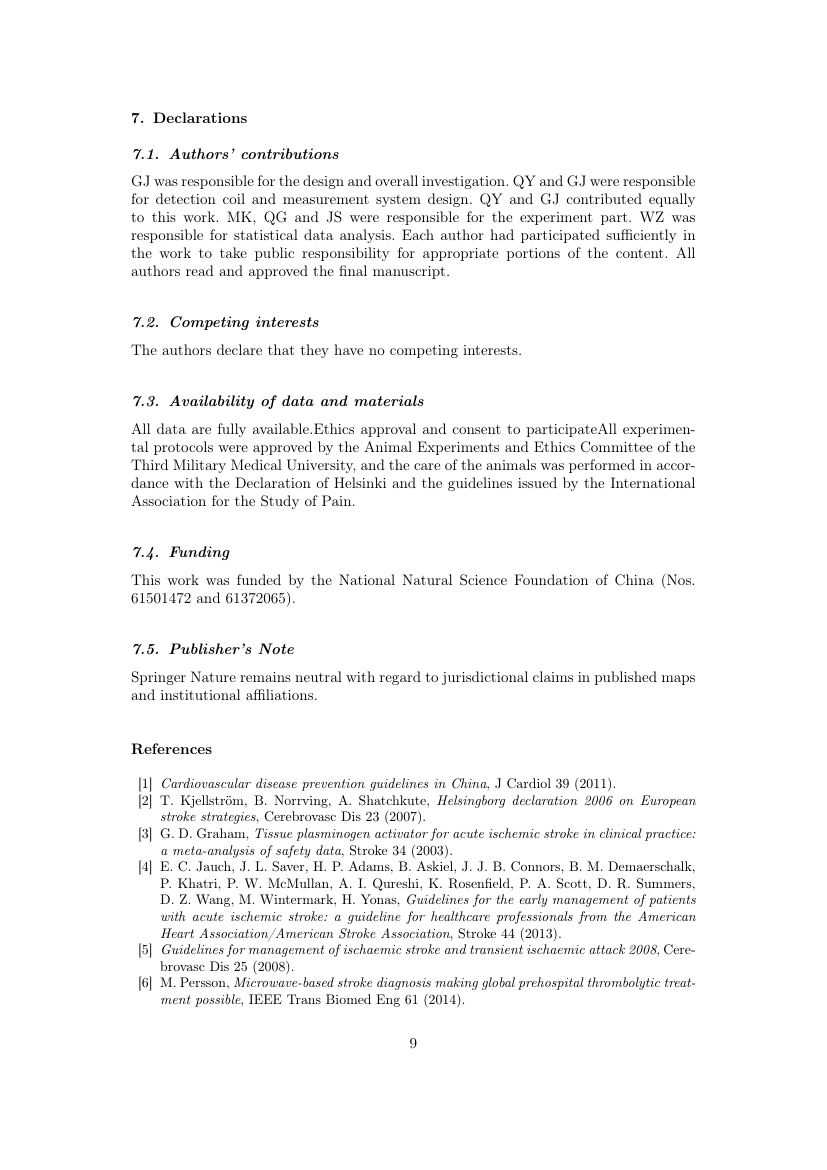 Example of International Journal of Mining, Reclamation and Environment format