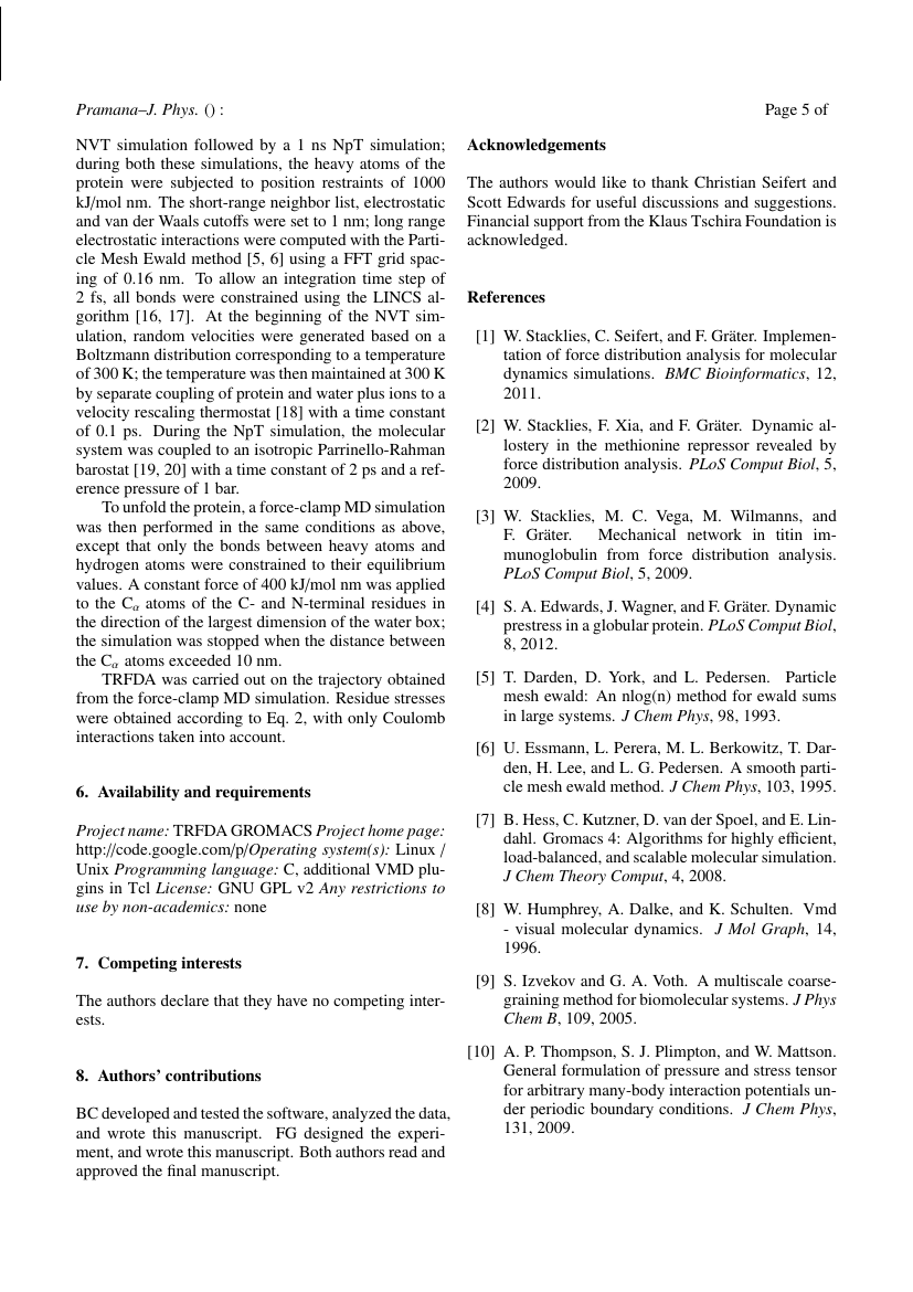 Example of Pramana - Journal of Physics format