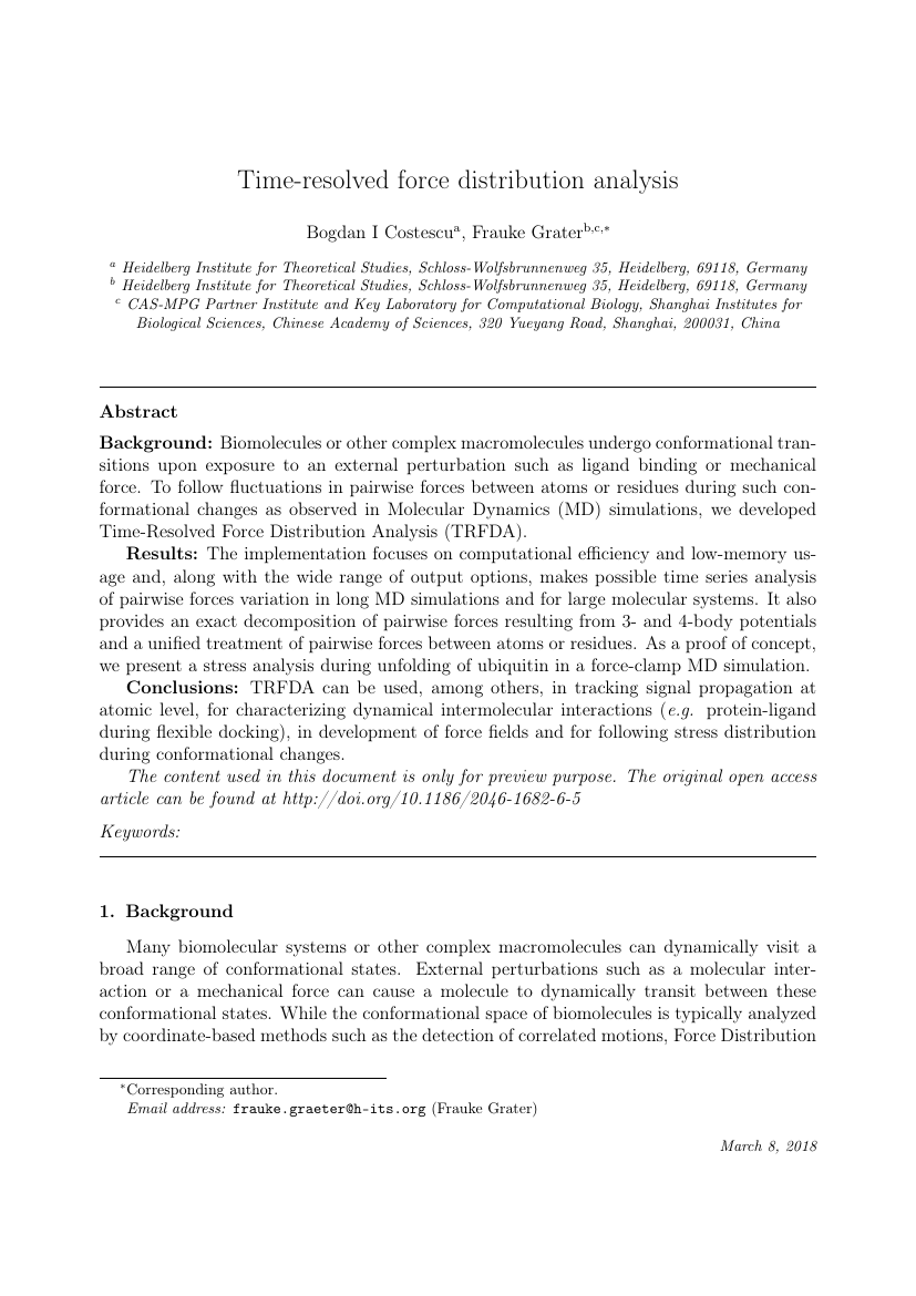 Example of Journal of Fluids and Structures format