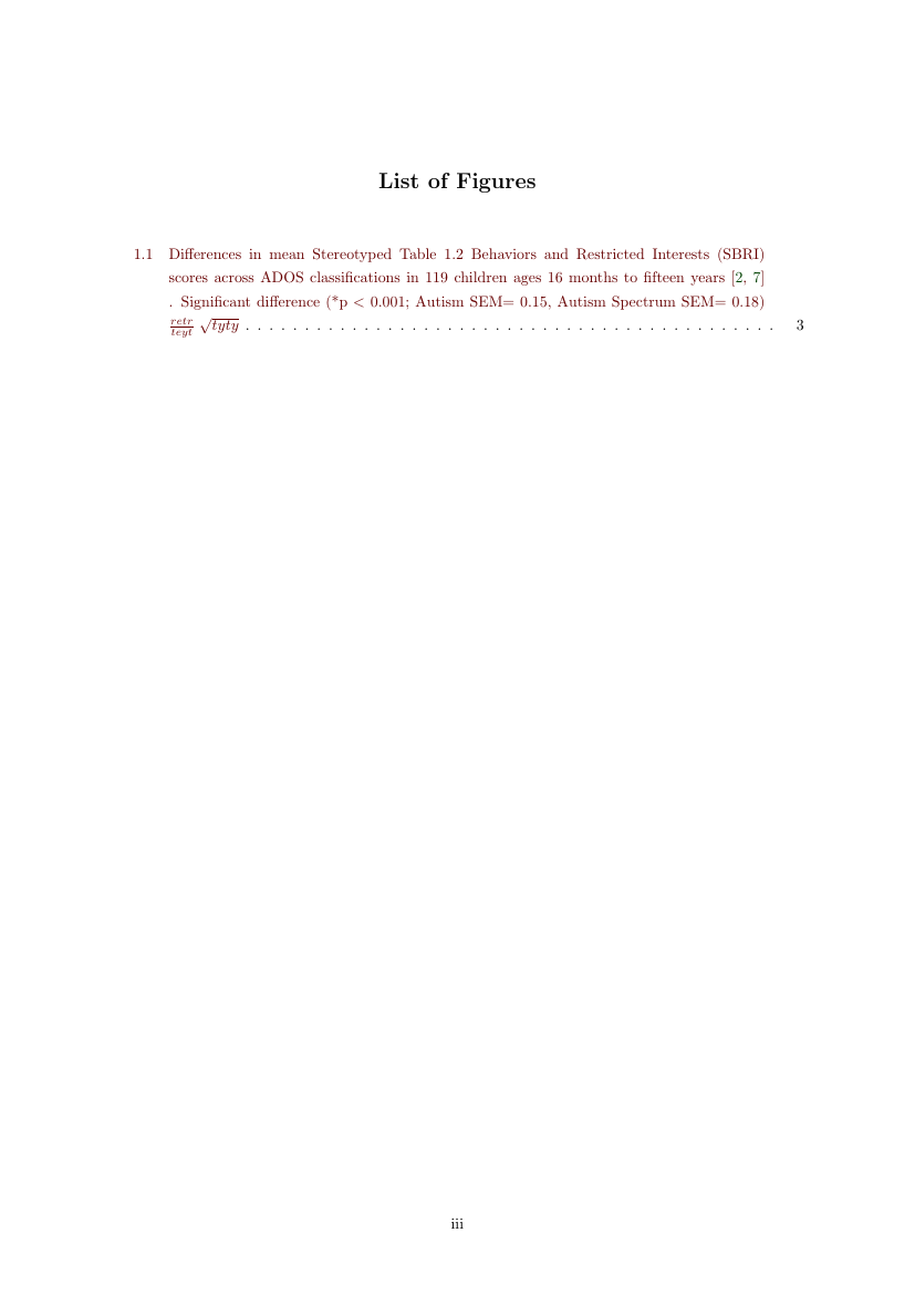 Example of Thesis Format for KAIST format