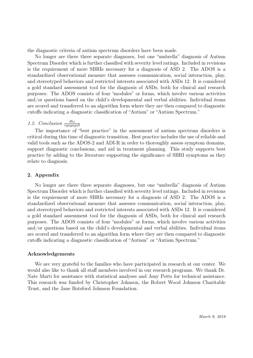 Example of Physica A: Statistical Mechanics and its Applications format