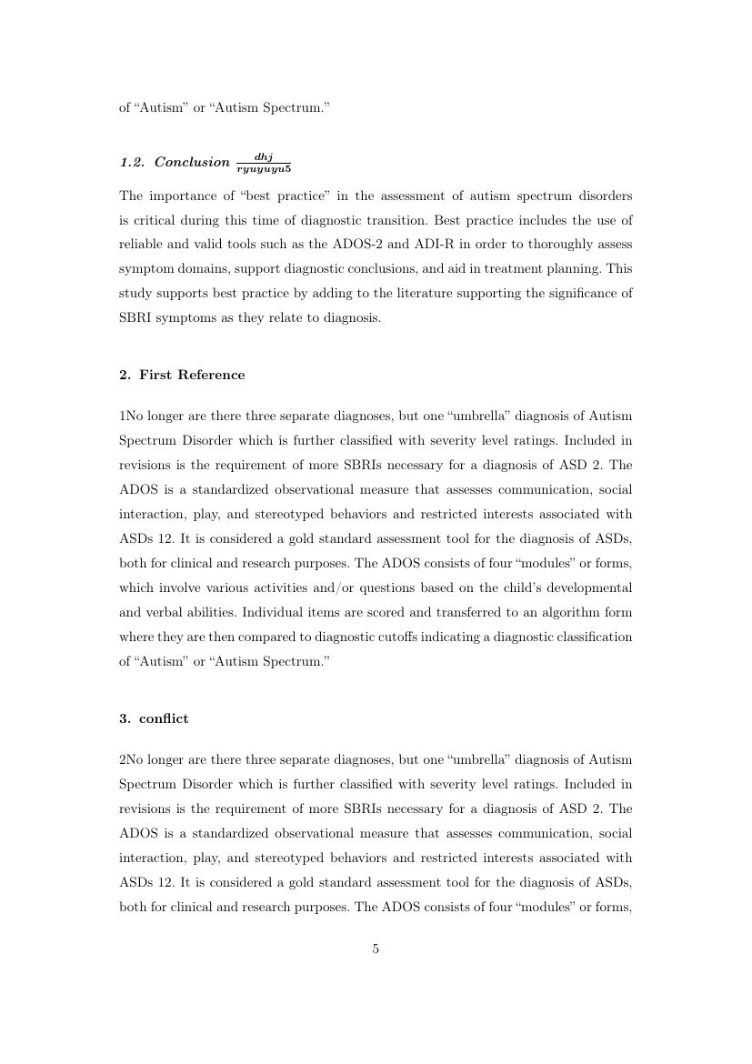 Example of Security Studies format