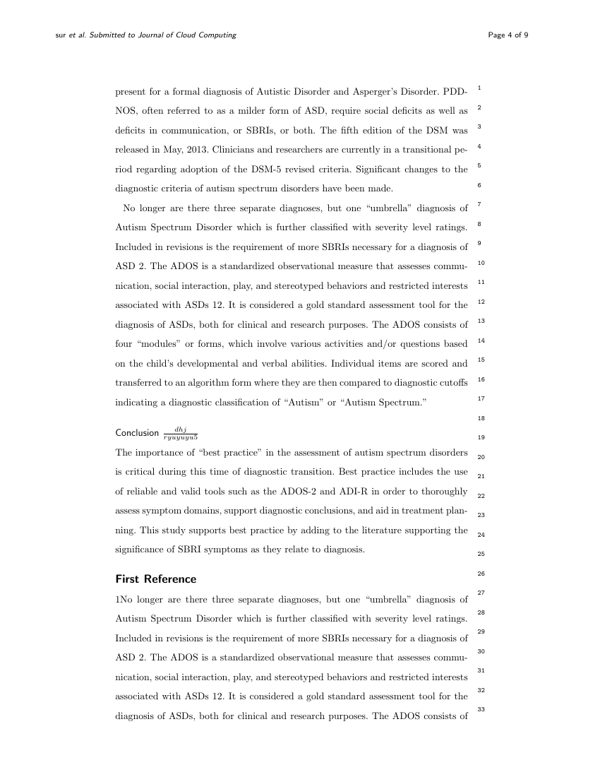 Example of Journal of Cloud Computing format