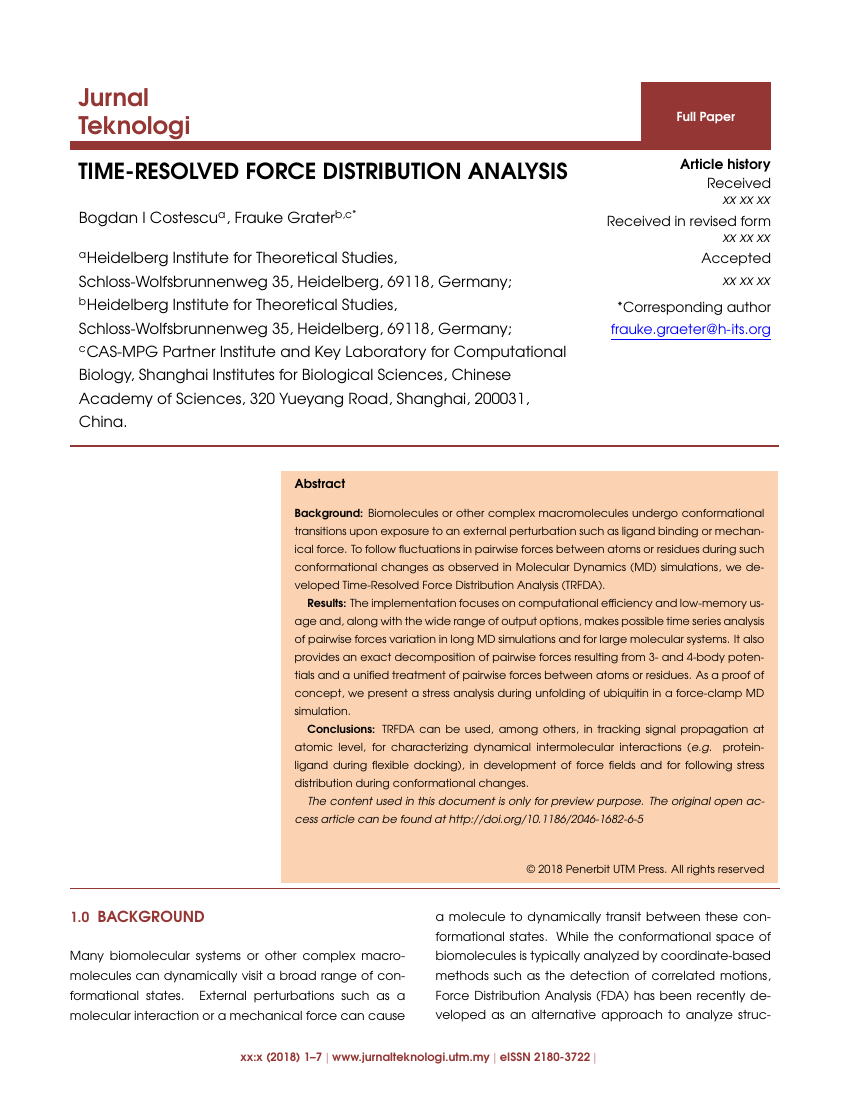 Example of Jurnal Teknologi format