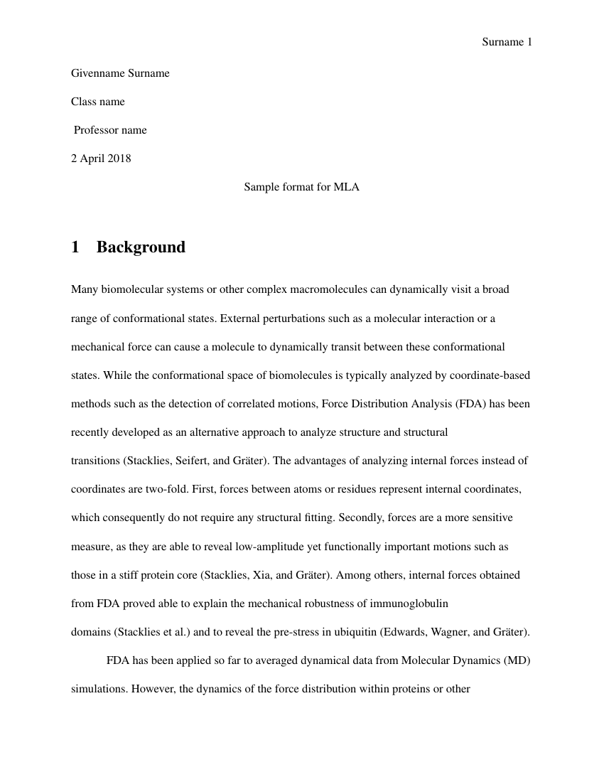 How To Write A Good Essay For High School Example Of Mla  Essay Format Format  Examples Of Proposal Essays also English 101 Essay Mla  Essay Format  Mla  Essay Format Template Research Paper Essay Topics
