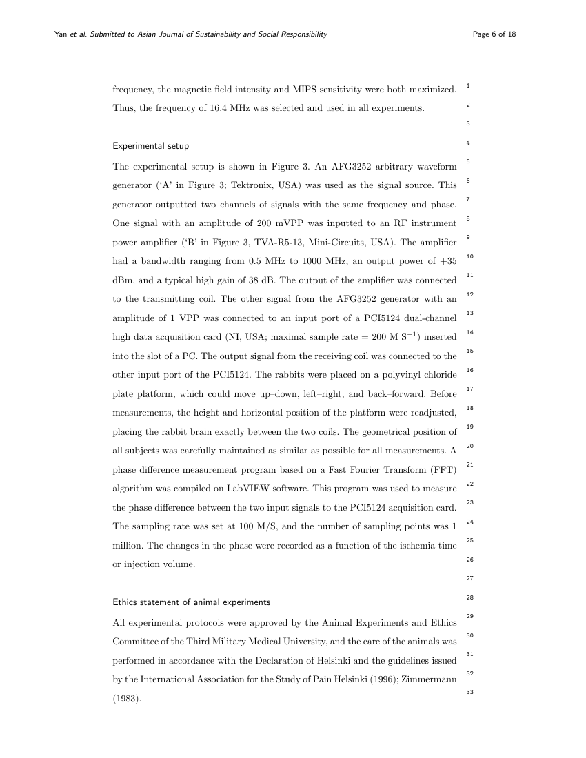 Example of Asian Journal of Sustainability and Social Responsibility format