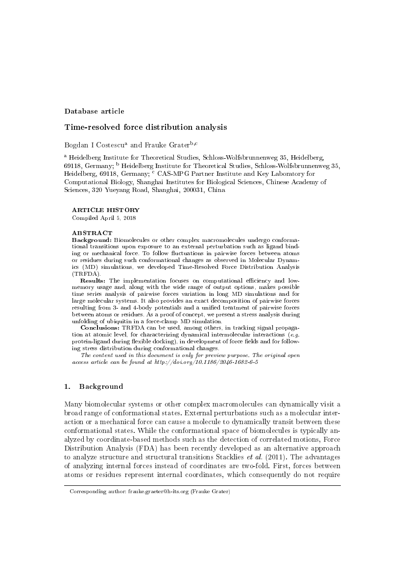 Example of International Journal of Pavement Engineering format