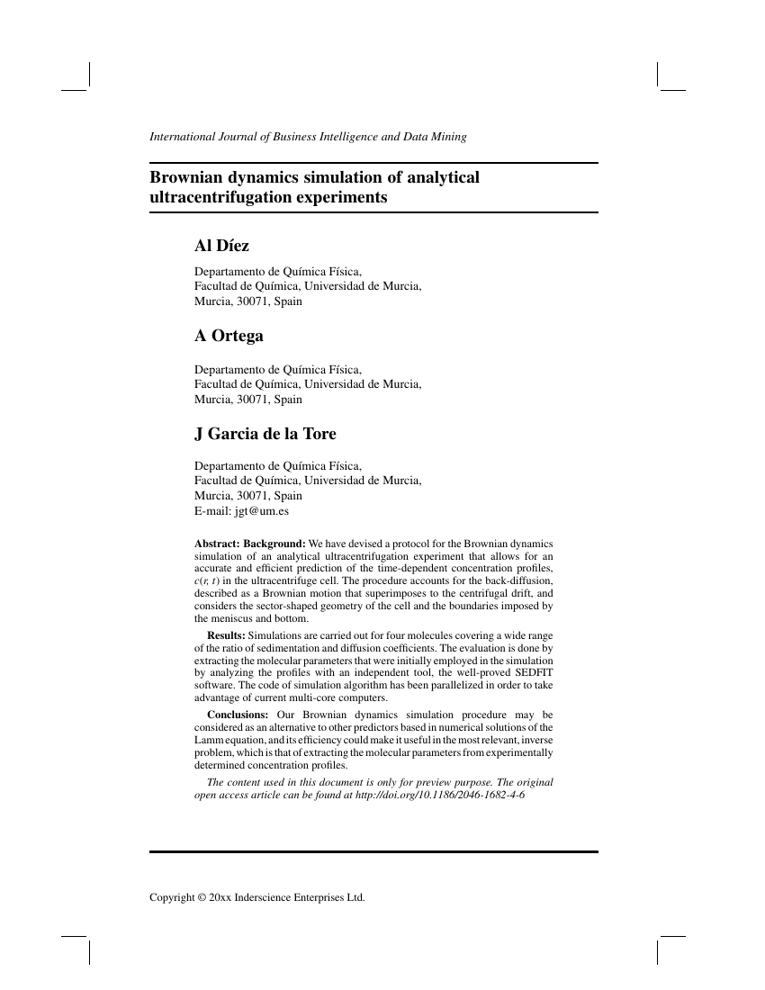 Inderscience publishers international journal of business example of international journal of business intelligence and data mining format wajeb Choice Image